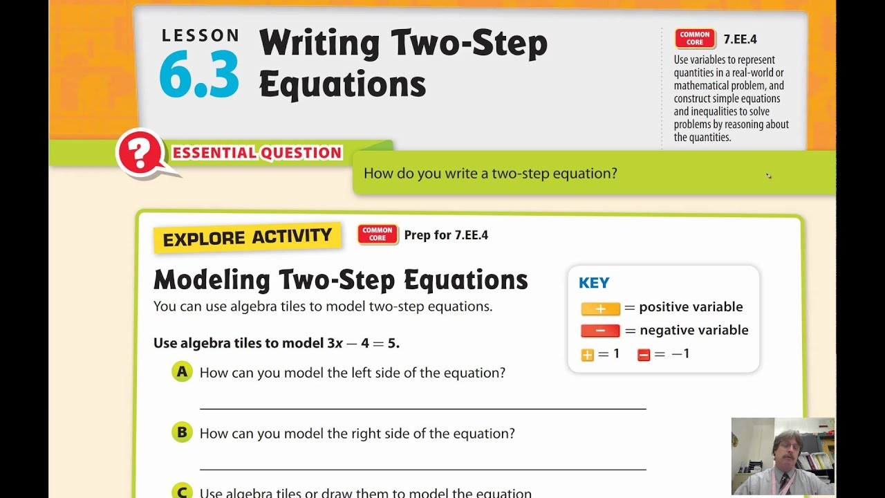 Lesson 63 Writing Two Step Equations YouTube – Writing Two Step Equations Worksheet