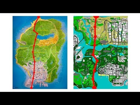 GTA V Map Size Alternative Comparison