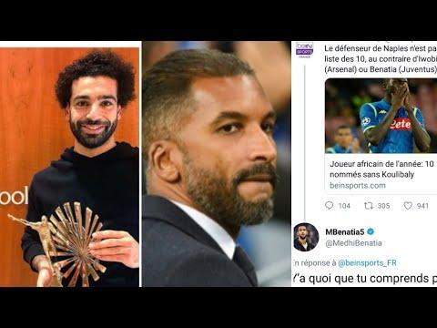 Beye rêve dentraîner lOM/Benatia sagace sur twitter vs Bein sport /Salah africain de l année