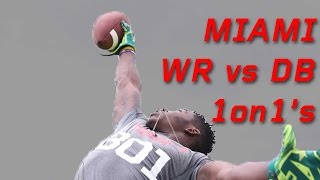Miami WR vs DB 1 on 1