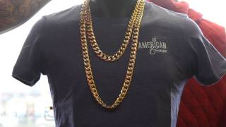 GOLD STAINLESS STEEL CUBAN LINK CHAINS