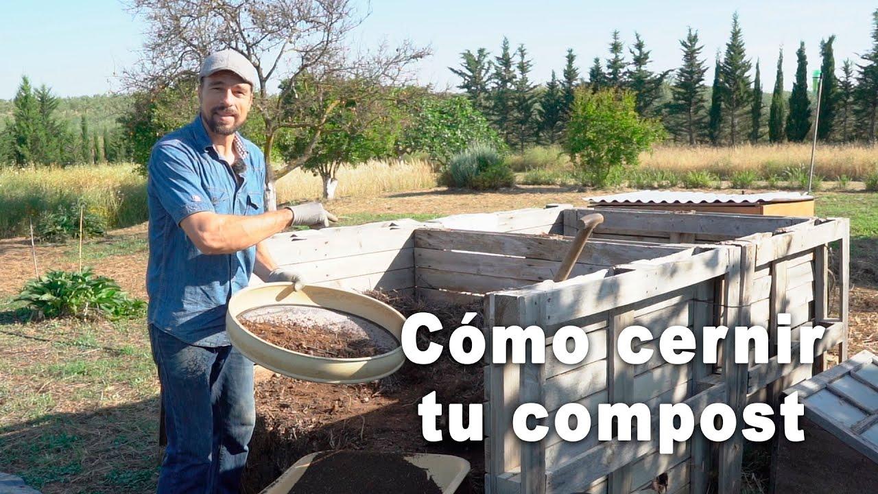Cómo cernir tu compost