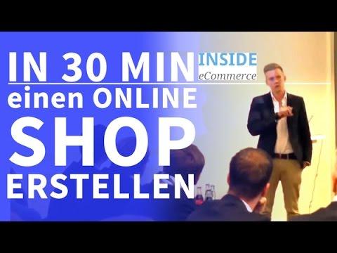 In 30 Minuten einen Online Shop erstellen: Vortrag von Alexander Marci von Inside Ecommerce