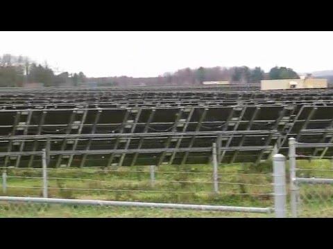 Exploring A Huge Solar Power Farm Near Ottawa