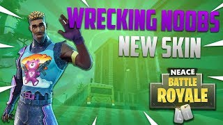 WRECKING NOOBS WITH NEW BRITE GUNNER SKIN in Fortnite: Battle Royale!