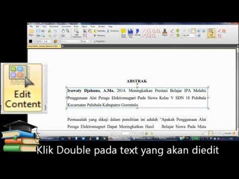 Cara Edit file PDF dengan PDF XChange Editor - YouTube