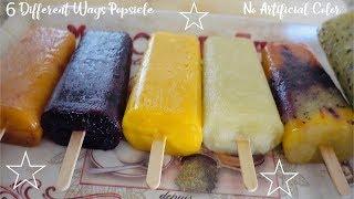 6 Different Fruit Popsicles • No Artificial Colors Or Flavors • Sangeeta's World