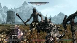 The Elder Scrolls V: Skyrim Legendary Edition - A Fire Dragon & Giant - HD (PC Gameplay)