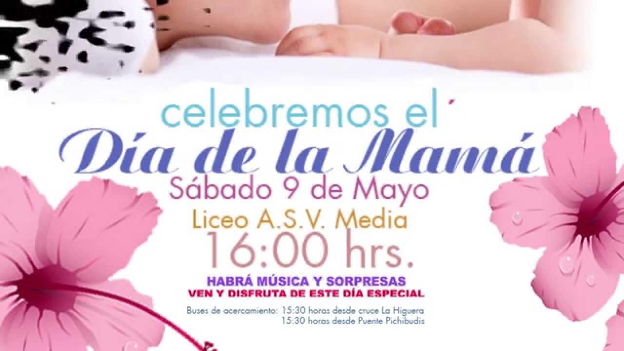 Invitación A Celebración Día De La Madre: INVITACIÓN DÍA DE LA MADRE LICANTÉN 2015