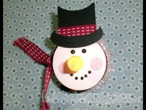 Tea Light Snowman Youtube