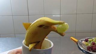 Как сделать дельфина из банана Фруктовый мастер Fruitm