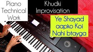 Piano technical work Piano Improvisation Sikhiye Piano lesson #39