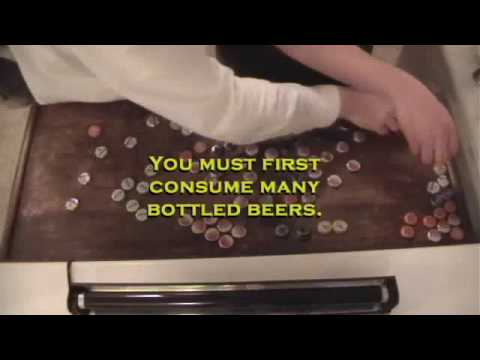 Bar Top Bottle Caps Time Lapse - YouTube