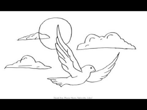 Baby Bird Flying Drawing