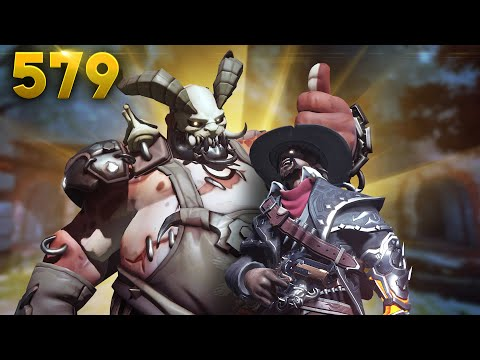 McCree + Roadhog= 900IQ!! | Overwatch Daily Moments Ep.579 (Funny and Random Moments)