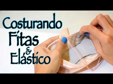 d4b453261f Costurando a fita e o elástico na Sapatilha de Ponta. How to sew ribbon and  elastic pointe shoes. - YouTube