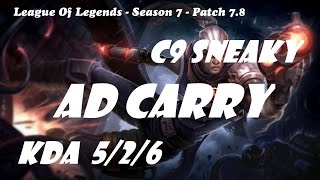 ad carry c9 sneaky lucian vs varus patch 7 8 league of legends ranked challenge