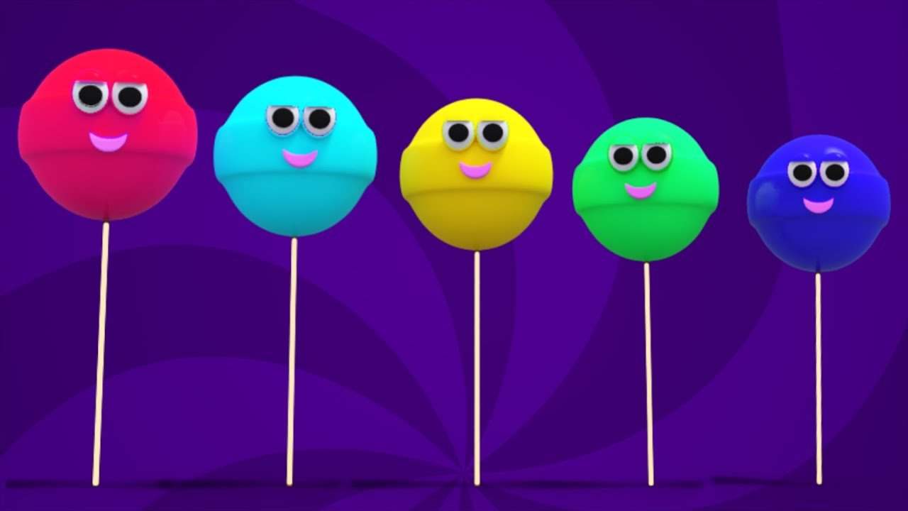 lollipop finger family poem nursery rhyme song for kids and children