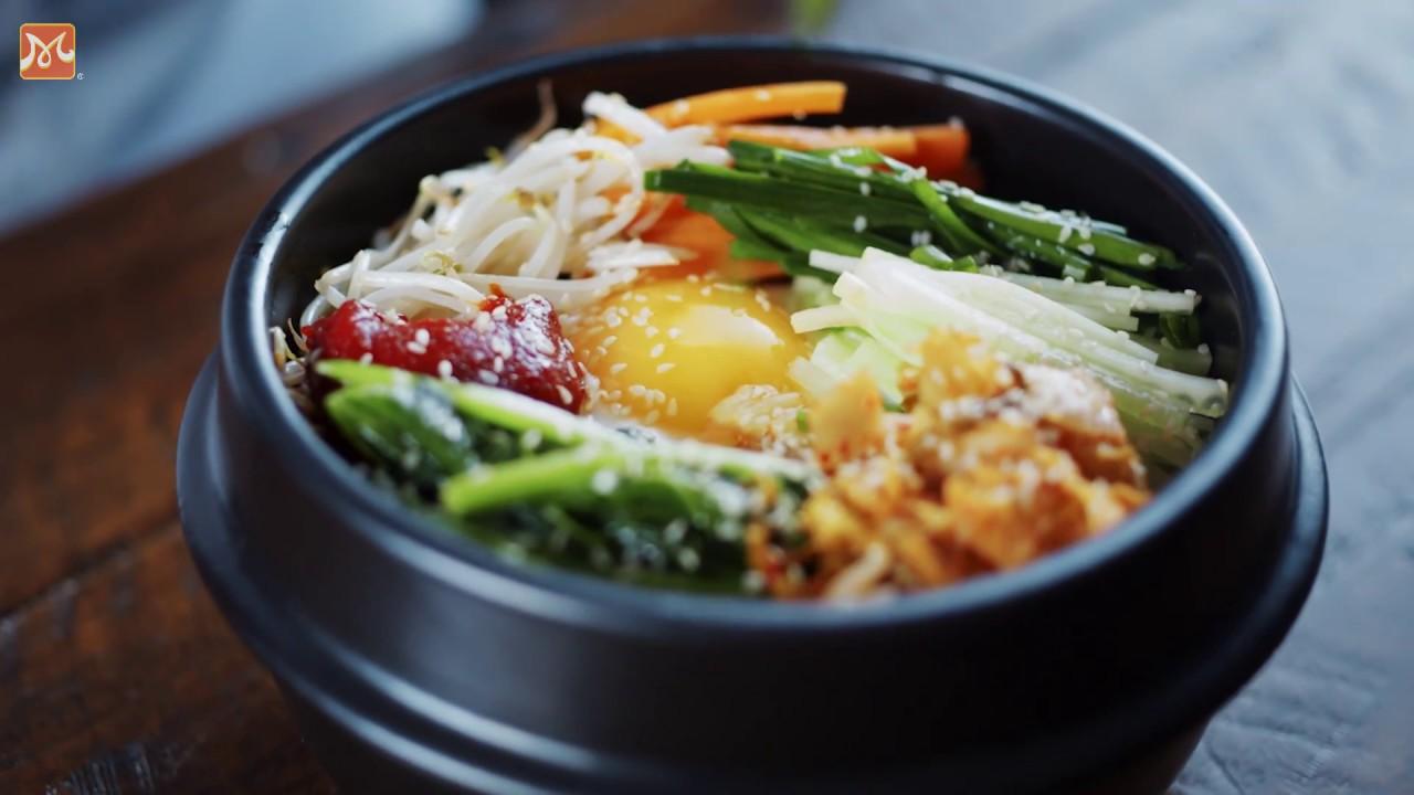 Hướng Dẫn Làm Cơm Trộn Hàn Quốc (Bibimbap) Chính Gốc   Học Nấu Ăn Ngon   Hướng Nghiệp Á Âu