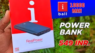 Unboxing amp Review iBall 10000mah Power Bank