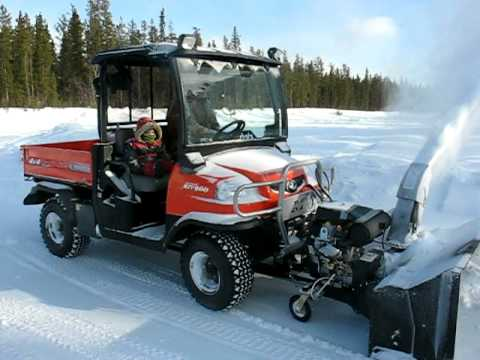 4 Seater Atv >> Kubota RTV900 with Bercomac Snowblower - YouTube