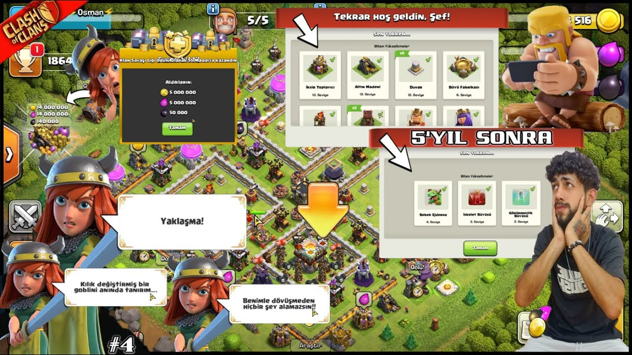 5 YIL ARADAN SONRA TAKİPÇİMİN HESABINI KURTARDIM ! Clash of Clans Gizemleri #4 (Mystery Village Coc)