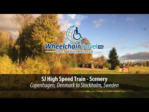 SJ High Speed Train - Copenhagen to Stockholm by WheelchairTravel.org