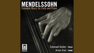 Cello Sonata No. 2 in D Major, Op. 58, MWV Q32: III. Adagio