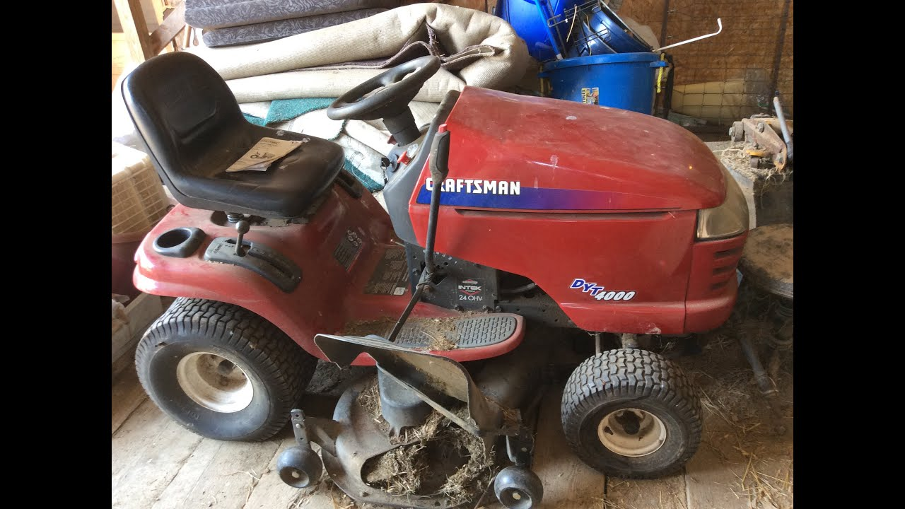 hight resolution of sears craftsman lawn tractor 48 inch mower deck