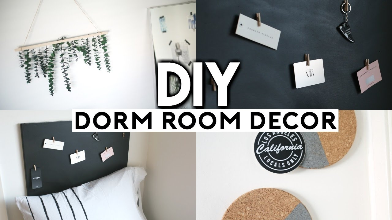 diy dorm room decor easy cheap back to school 2017 youtube