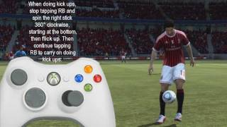 FIFA 12 | All Juggling / Freestyle Skill moves Tutorial (2 NEW SKILLS) Xbox only