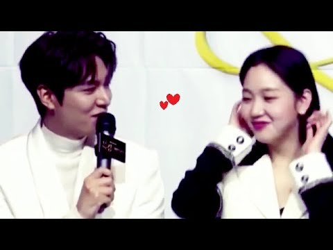 Lee Min Ho ❤️ Kim Go Eun Show Sweet Chemistry At The King Eternal Monarch Pres Conference