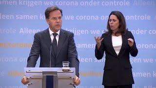 Persconferentie van premier rutte en minister de jonge (vws) over aanpak het coronavirus in nederland versoepeling maatregelen m.b.t reiz...