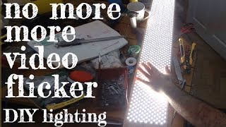No more flicker or banding! DIY LED Studio Light - Voltage Dimming not PWM (DIYperks method)