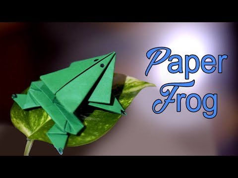 How to make a paper frog that jumps high and far : Origami jumping frog | Easy tutorial