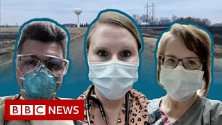 Covid in North Dakota: One day inside a rural US hospital's fight - BBC News