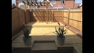 Decking, Pergola And Sleeper Construction Time Lapse
