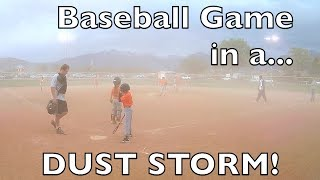 DOUBLE HEADER BASEBALL GAME IN A DUST STORM! LITTLE LEAGUE PLAYOFFS