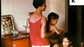 Late 1960s/ Early 1970s Cuba, Family Life in East Havana New Developments, Colour Footage