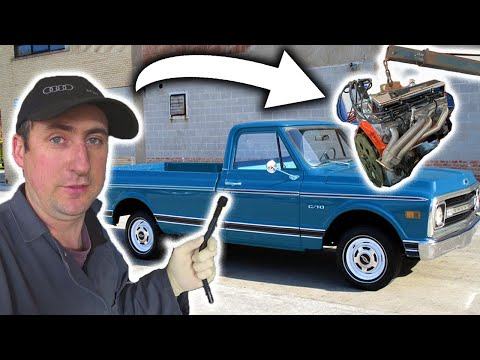 6 ти литровый V8  в старенький  пикап ! Автосервис в США!!