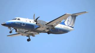 United Airlines Express Embraer EMB-120ER Brasilia [N569SW] (Blue Tulip Livery) Landing AT LAX