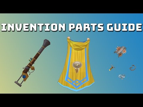 Invention Parts Guide. Shop Runs [Runescape 3]