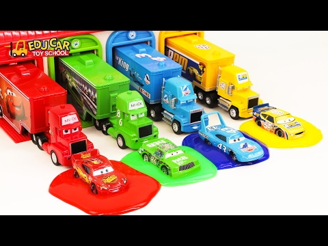 Thumbnail: Learning Color Number with Special Disney Pixar Cars Lightning McQueen Mack Truck for kids car toys