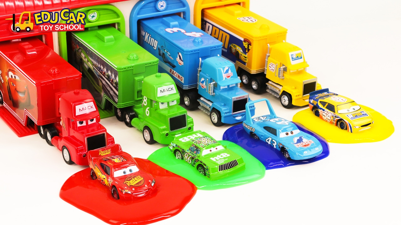 Learning Color Number with Special Disney Pixar Cars Lightning ...