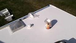 RV roof clean and reseal DIY