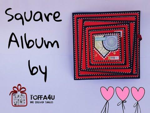 DIY Square Album  | Handmade Anniversary Gifts | Handmade Gifts Idea | Toffa4u