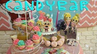 Кендибар в стиле куклы LOL. Все о оформлении CandyBar и хранении при жаре торта