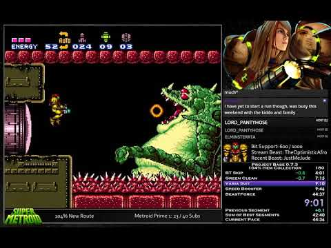 Super Metroid: Project Base 104% in 44:25 (0:31) [WR]