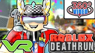 Let's Play Roblox Deathrun LIKE YOU'RE IN THE ROOM! - 360 Degree VR Gaming - Google Cardboard