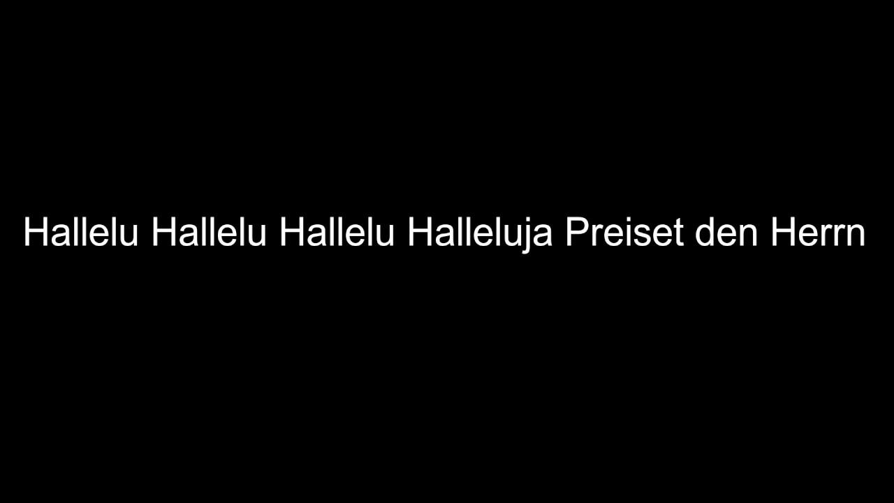 2ae9db9862 Kirchenlieder Hallelu Hallelu Hallelu Halleluja Preiset den Herrn ...